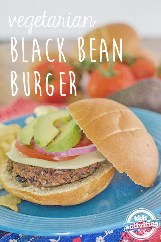 black bean burger text