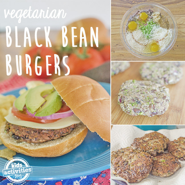 black bean burgers SQUARE