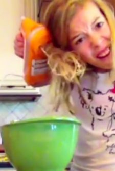 Girl Learns The Hard Way Not To Get Distracted While Cooking