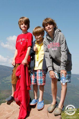 family adventure on the mountain