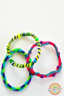 Fuzzy Stick Bracelets