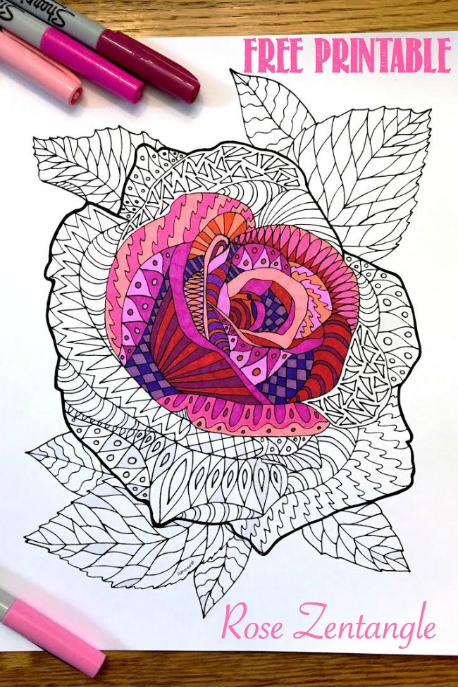 Rose Zentangle