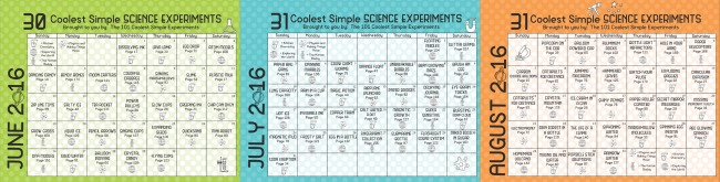 science everyday play calendar