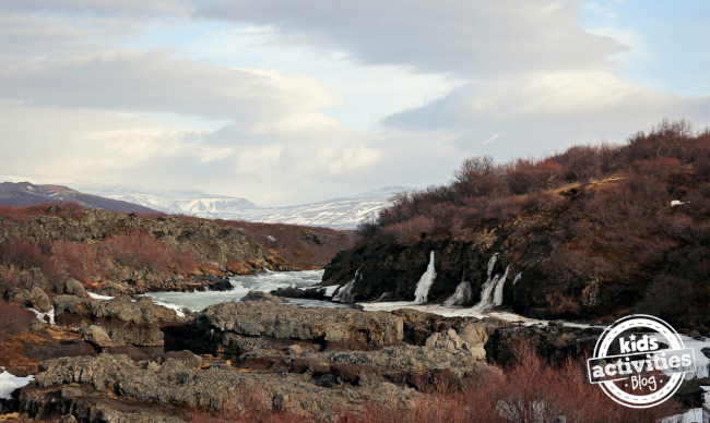 Hraunfossar Barnafoss, a waterfall #adventurestartswithme