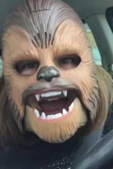 This woman laughing in a Chewbacca mask is a MUST SEE!