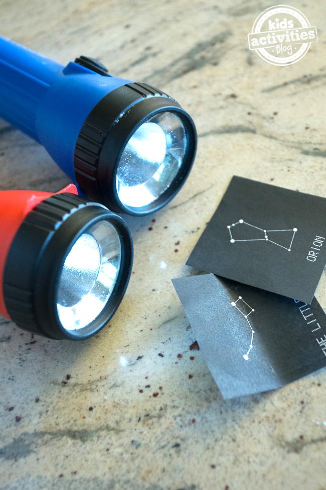 Flashlight Solar System Constellation Cards