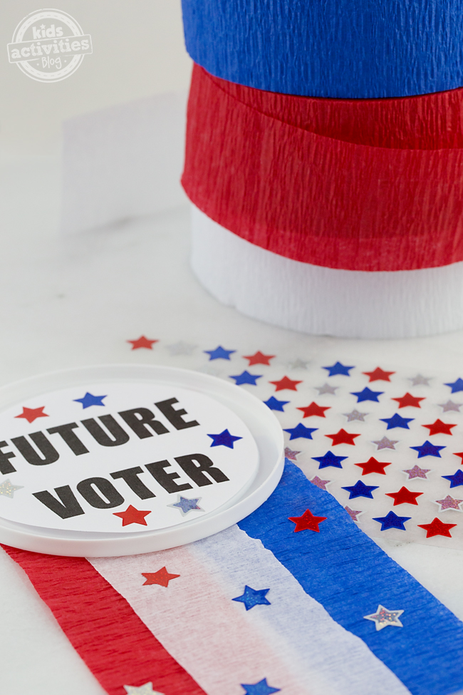 """Future Voter Button Craft  """" Perfect for little politicians!"""