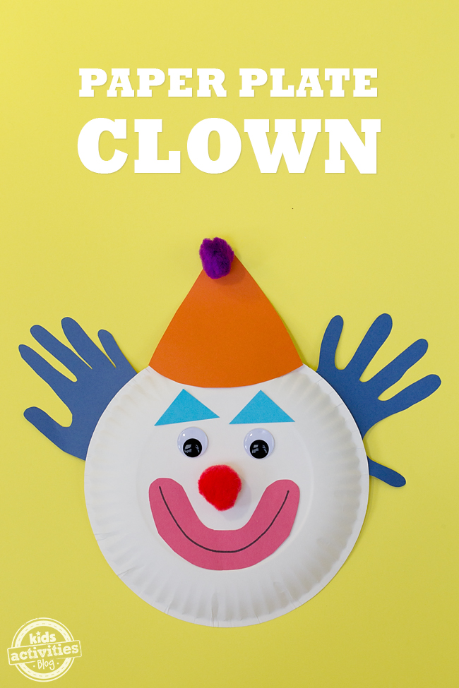 Paper Plate Clown Mask