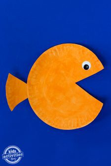 Paper Plate Goldfish Craft
