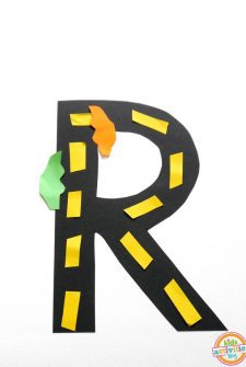R Is For Road. Letter R Craft
