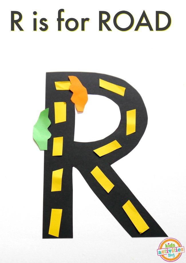 R is for road letter r craft altavistaventures Image collections