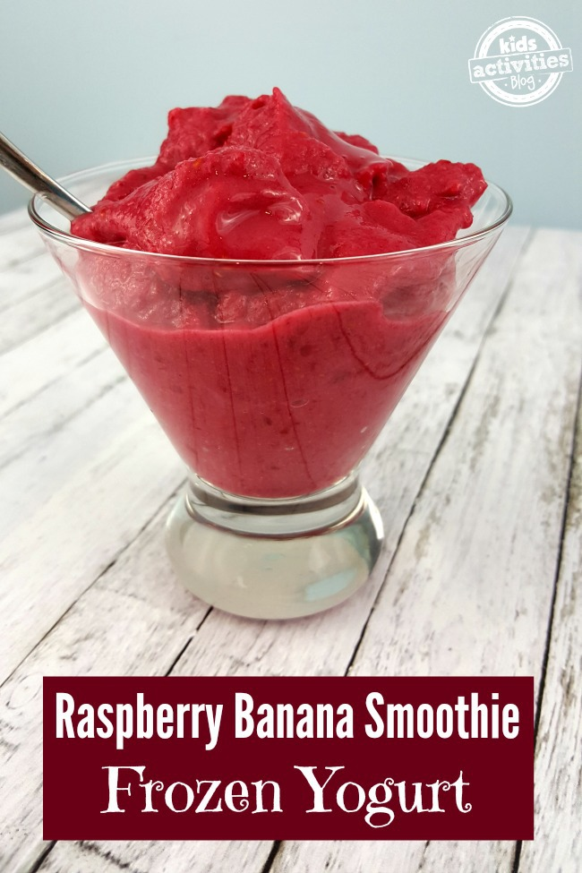 Raspberry Banana Smoothie Frozen Yogurt