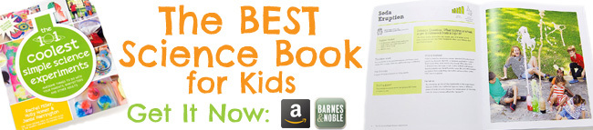 Science Book for Kids Banner WHITE