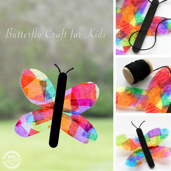 Butterfly Suncatcher Craft for Kids