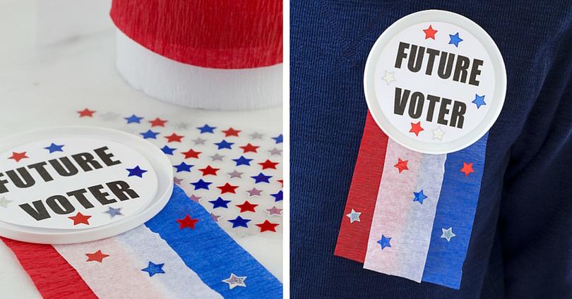 Future Voter Button Craft
