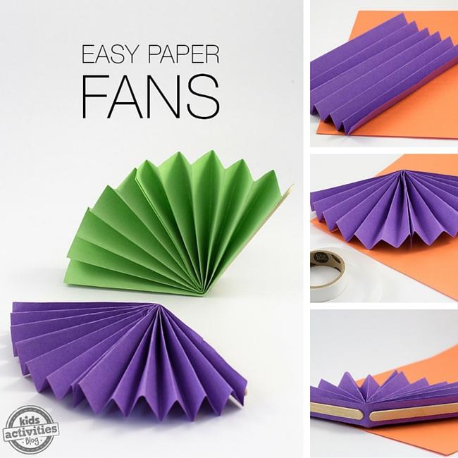 Easy Paper Fans