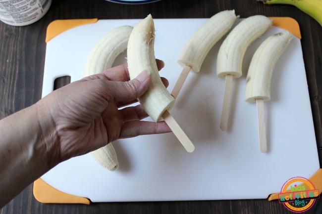 Yogurt Banana Popsicles