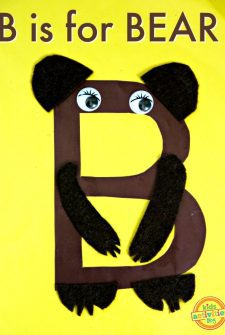 B Is For Bear — Letter B Craft