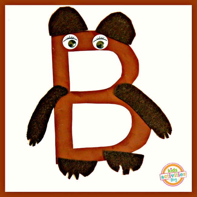 B Is For Bear Letter B Craft