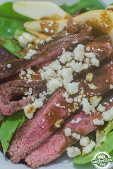 Savory Beef Salad with Honey Mustard Dressing