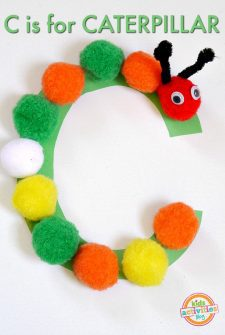 C Is For Caterpillar. Letter C craft