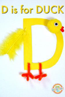 D Is For Duck. Letter D craft