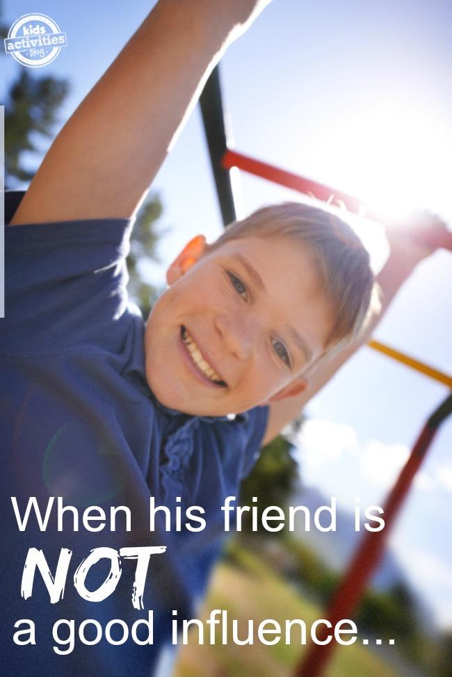 friend not a good influence
