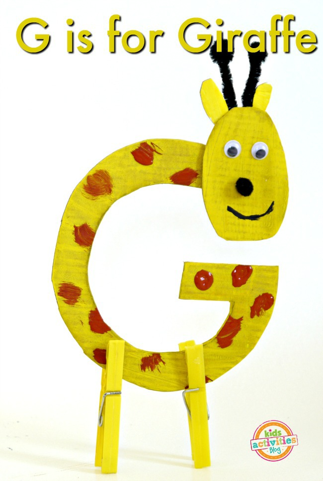 cut out letter b cardboard ea supplies letter g craft g is for giraffe 680