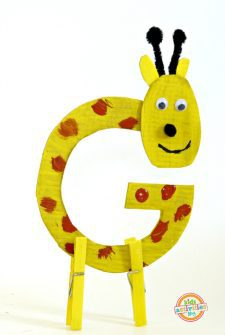 Letter G Craft — G is for Giraffe