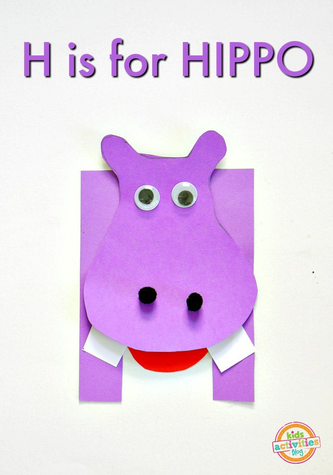 H Is For Hippo Letter H Craft