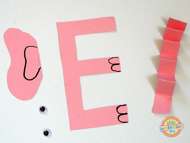 letter E supplies