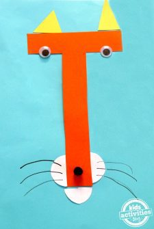 T Is For Tiger. Letter T Craft