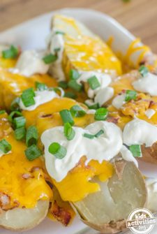 Easy Loaded Potato Halves