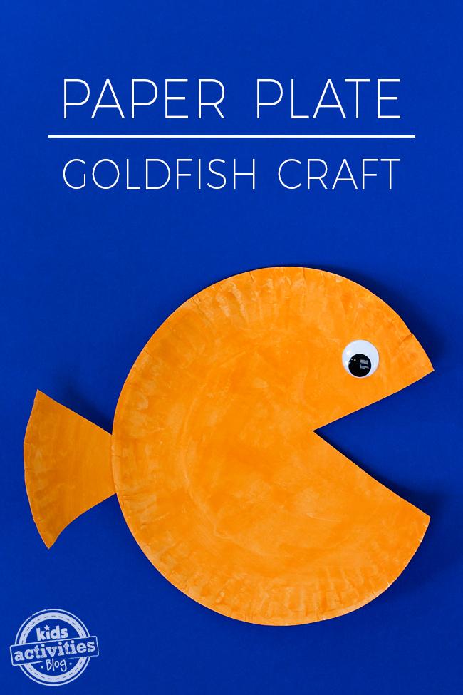 Paper Plate Goldfish