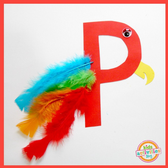 P Is For Parrot Letter P Craft