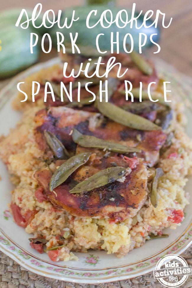 pork chops spanish rice text