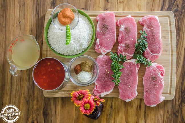 pork chops spanish rice