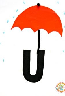 U Is For Umbrella. Letter U Craft