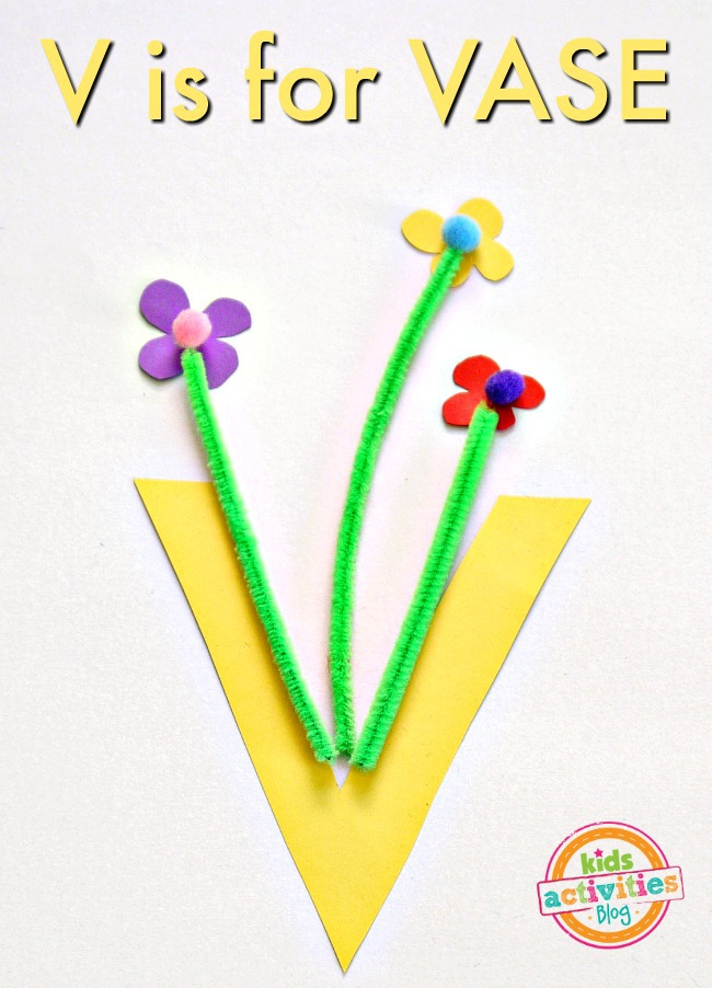 V Is For Vase -- Letter V Craft