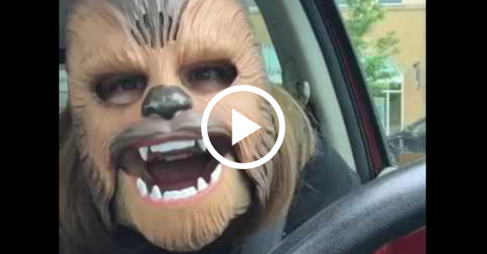 This Woman Laughing In A Chewbacca Mask Is A Must See