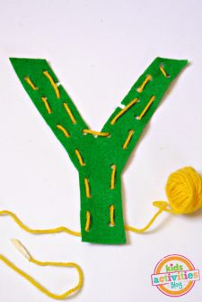 Y is for Yarn. Letter Y Craft
