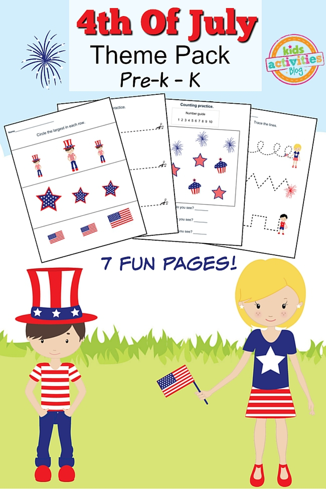 Of July Printable Preschool Worksheet Pack