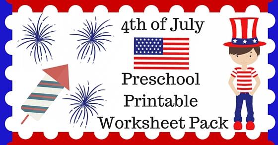 4th of July Printable Preschool