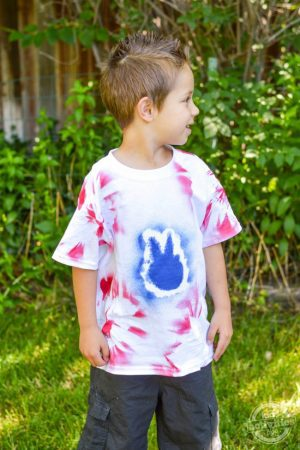 4th of July Tie-Dye T-Shirts