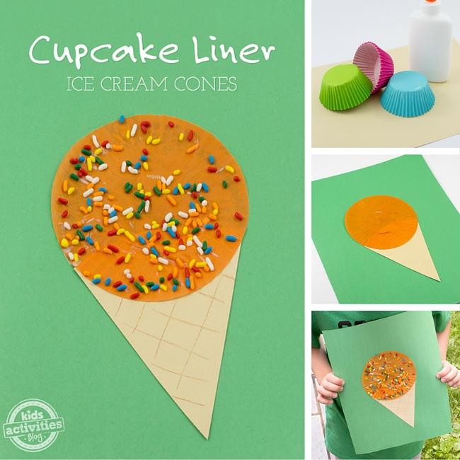 Cupcake Liner Ice Cream Cones