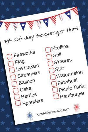 Fourth of July Scavenger Hunt