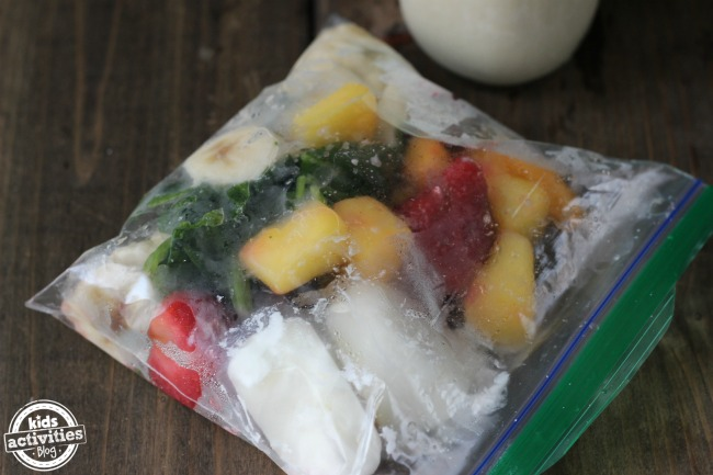 fruit girl frozen fruit smoothie