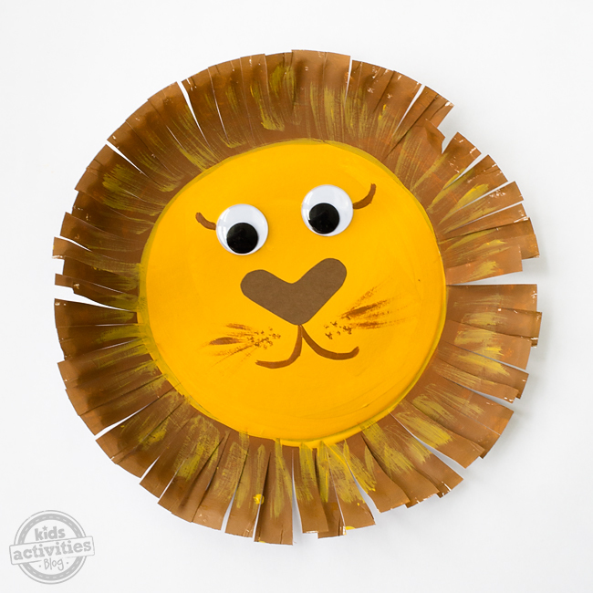 Lion Paper Plate Craft Template
