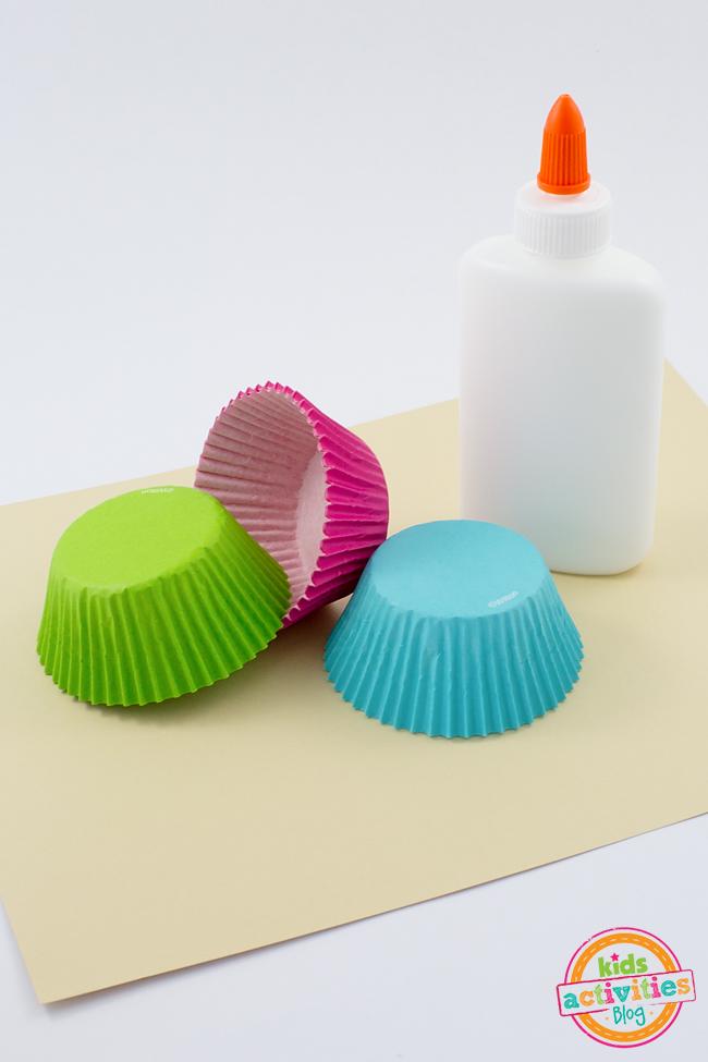 Ice Cream Cupcake Liner Craft