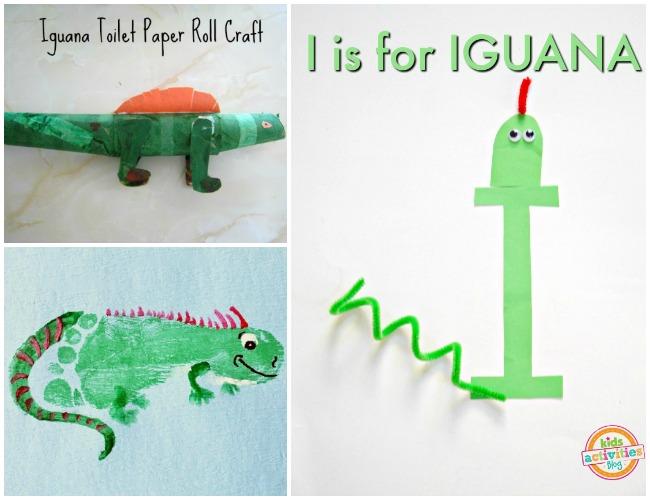 Letter I Activities Iguana